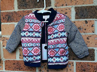Baby Girl Bomber Jacket - 12-18 Months - New With Tags