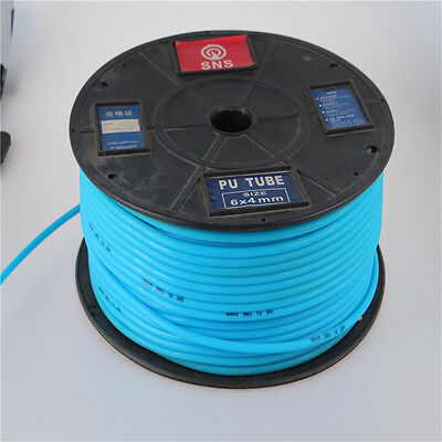 1M Polyurethane PU Air Compresser Pneumatic Pipe Tube Hose Air 4mm Light Blue