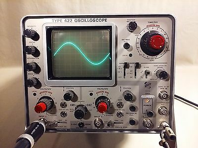 Tektronix 422 Vintage Portable Analog Oscilloscope - 2 Channel - 15 mhz