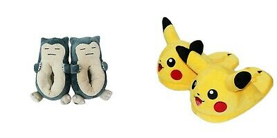 Adult Pokemon Slippers Winter Indoor Shoes Anime Cosplay Pikachu Evee Snorlax