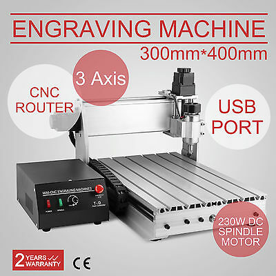 Usb Cnc Router Engraver Engraving Cutter 3 Axis 3040T Usb Port Crafts Arts