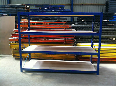 4 Tier Industrial Commercial Warehouse  Longspan Shelving Racking Bay Unit