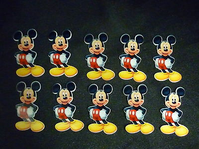Cake Decoration Plastic Push-on Figures Birthday Characters x10 - MICKEY MOUSE