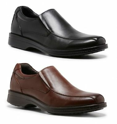 Mens HUSH PUPPIES NOEL FORMAL/DRESS/WORK/LEATHER SHOES EXTRA WIDE SLIP ON MEN'S