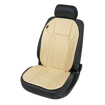 Walser Quality Car Seat Cushion Cream Leather Effect Padded Comfort Pad Cover