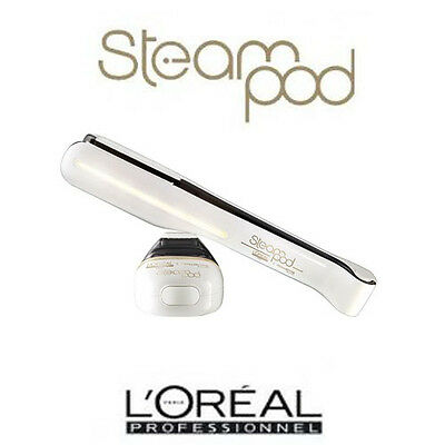 L'Oreal Steampod Hair Straighteners New Steam Pod 2.0 White **UK VERSION**
