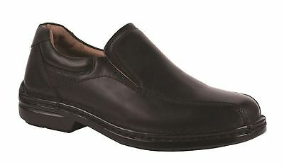 Mens HUSH PUPPIES WARWICK Black EXTRA WIDE FORMAL/DRESS/WORK/LEATHER SHOES