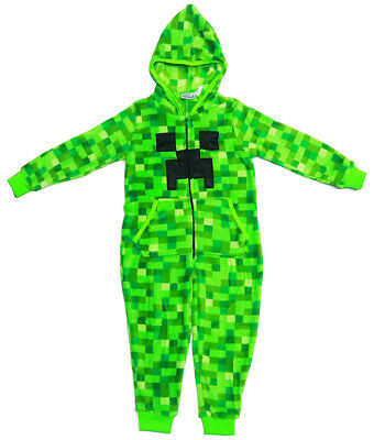 New Sz 6-12 Kids Winter Pyjamas Mi-Ne-Cft Boys Sleepwear Jump Suit Pjs Bodysuit