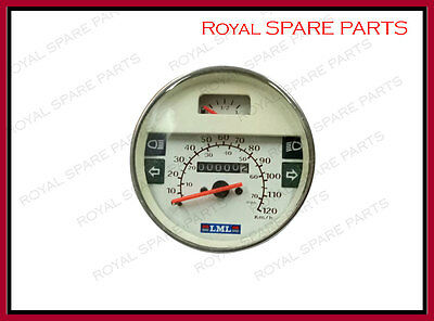 Speedometer Assembly White Color For Vespa PX LML Star