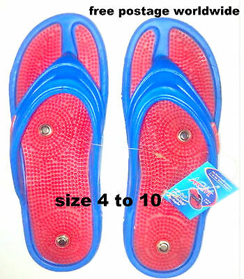 Acupressure Slippers Acupunture Magnetic Therapy Massager Footwear Light Weight