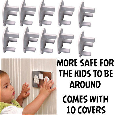 Safety Wall Plug Socket Baby Child Protection Blanking Covers Cap Electric Mains