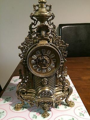 Old And Vintage Big Brass Clock