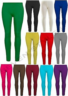 Girls Thick Cotton Leggings Children Stretchy Legging Basic Pants Size 2-13 Yrs