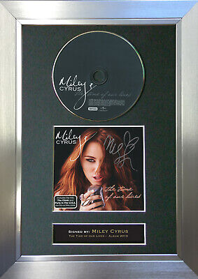 MILEY CYRUS album Signed Autograph CD & Cover Mounted Re-Print A4 4