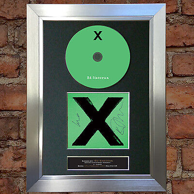 ED SHEERAN X ALBUM Signed Autograph CD & Cover Mounted Re-Print A4 55