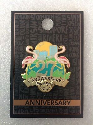 Hard Rock Cafe Pins - ORLANDO HOT 27TH ANNIVERSARY FLAMINGO AND SKYLINE!