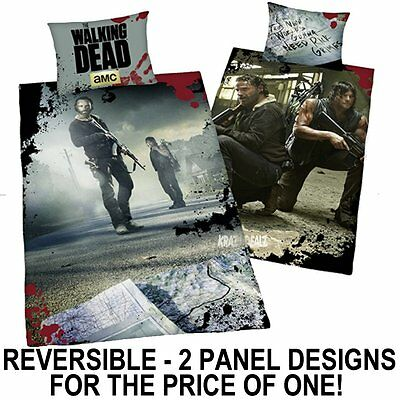 The Walking Dead Duvet Set Single Panel Cover Quilt Bedding Rick Daryl Zombie
