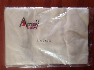 AMBY Baby Nest Organic Cotton 2 Pack Fitted Sheets (Cream) GENUINE Brand NEW