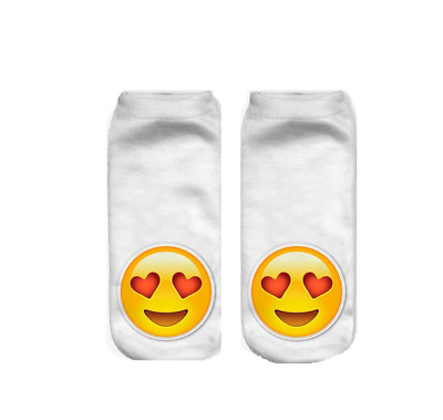 2 Paar Smiley Love Socken