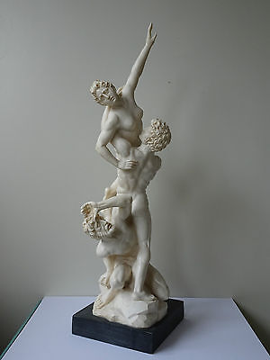 Nude Vintage Italian Sculpture figurine A.Santini Rape of the Sabine Women 19in