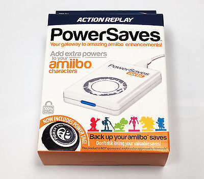Action Replay Amiibo Powersaves INCLUDES ONE POWERTAG! Brand New
