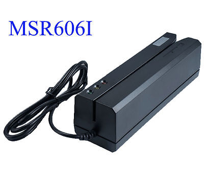 MSR606i Magnetic Stripe Credit Card Reader Writer Encoder Magstripe Swipe MSR605