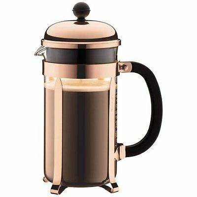 Bodum Chambord Coffee Herbal Tea Maker Press 8 Cup, 1L, Copper - 1928-18