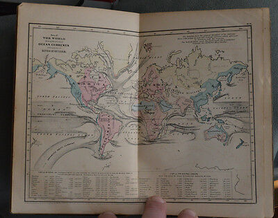 1859 Outlines of Physical Geography~George W. Fitch~6 maps c1855..OUTSTANDING