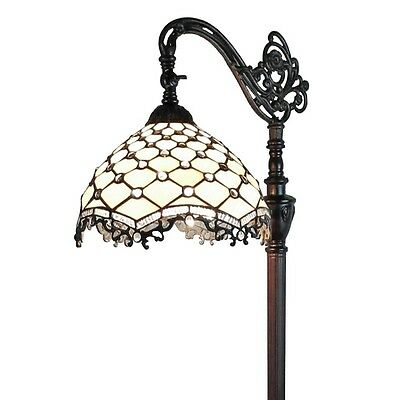 Tiffany Style Lamp Floor Stained Glass Light Lighting Reading Elegant Accent NEW