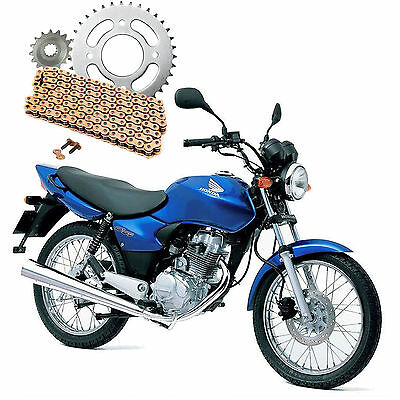 Honda CG 125 Brazil 1993-1998 Heavy Duty Gold Chain & Sprocket Kit CG125