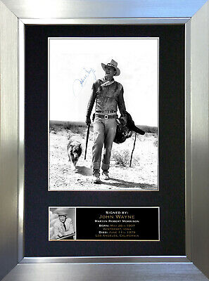 JOHN WAYNE Signed Autograph Mounted Reproduction Photo A4 Print 129