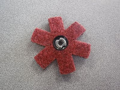 "25 pc 3"" Surface Conditioning Star Abrasive Disc -Maroon Medium Grade 998889 (M)"