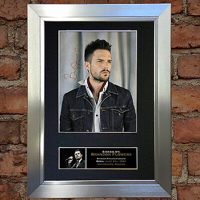 BRANDON FLOWERS Signed Autograph Mounted Reproduction Photo A4 Print 160