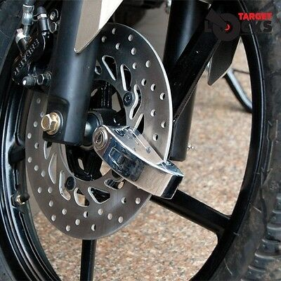 New Alarm Disc Lock Bike Motorbike Motorcycle Scooter Disk Padlock Siren Alarmed