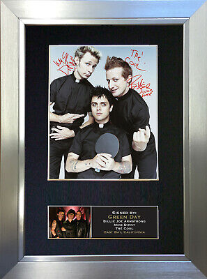 GREEN DAY No2 Signed Autograph Mounted Photo Reproduction A4 Print 203