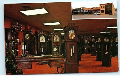 *Old Timers Grandfather Clock Store Gallery Paramus New Jersey NJ Postcard B48