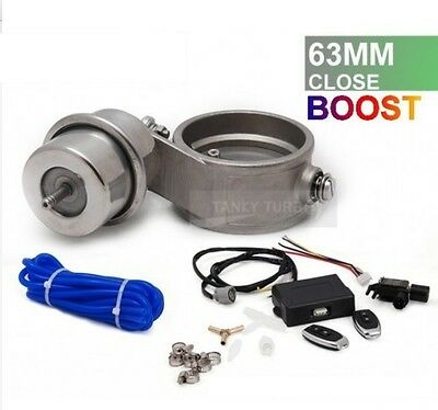 EPMAN 63mm EXHAUST CONTROL VALVE SET WITH BOOST ACTUATOR and WIRELESS REMOTE