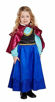 Toddler Ice Princess Anna Girls Fancy Dress World Book Day Week Costume 2-4 Yrs