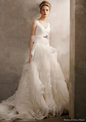 Vera Wang White Wedding Gown 800 00 Picclick