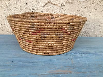 Antique Woven Native American Cahuilla Tribe Basket Southern California Missions