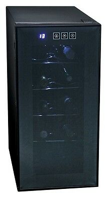 10 Bottle Wine Cellar, Touch Control, Black