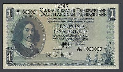 South African One Pound 27-12-1951 P93s Specimen Uncirculated