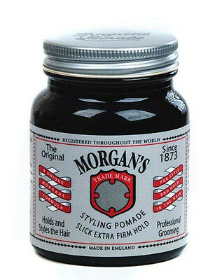 Morgans Styling Pomade Slick Extra Firm Hold Mens Hair Style 100g / 100ml