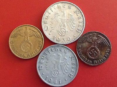 Germany Third Reich WW 2 Coin Lot