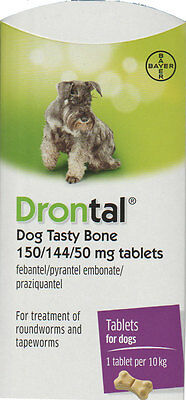 Drontal for Dogs (6-Tablets) - Genuine Bayer German NOT Asian import!