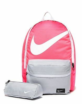 Nike Young Athletes Halfday Women's / Girls Backpack  Pink/Grey School Bag   23L