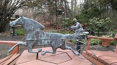 Vintage Weathervane with Sulky Horse - Decorative Piece