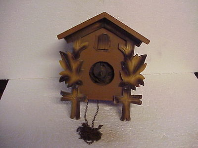 Vintage Huber Herr One Day Two Tone Cuckoo Clock for Restoration parts repair G
