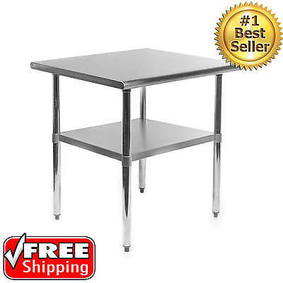 24x30 Inches Stainless Steel Work Prep Table Commercial Kitchen Restaurant NFS