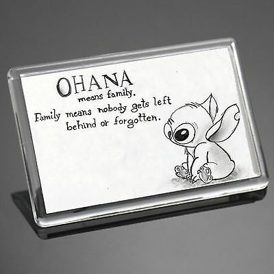 Lilo And Stitch Disney Ohana Stitch Quote Friend Family Gift Fridge Magnet